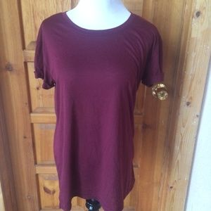 AWAKE BURGANDY BLOUSE M